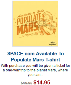 Space.com Populate Mars T-shirt