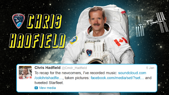 Hadfield tweets starfleet 12