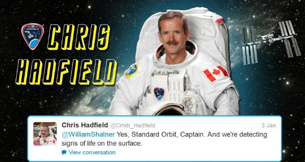 Hadfield tweets starfleet 2