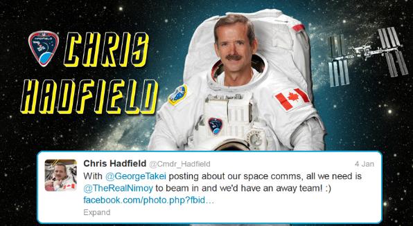 Hadfield tweets starfleet 4