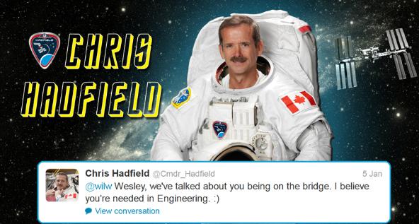Hadfield tweets starfleet 7