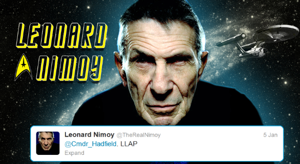 Hadfield tweets starfleet 9