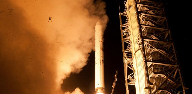 Image of frog lifted with Nasa LADEE launch